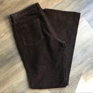 LOFT Curvy Boot Cut Corduroy Pants, Chocolate 8/29